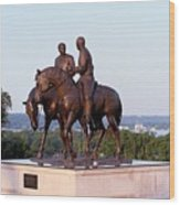 Monument In Nauvoo Illinois Of Hyrum And Joseph Smith Riding Their Horses Wood Print