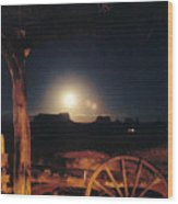 Monument Moonrise Wood Print
