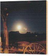Monument Moonrise Wood Print