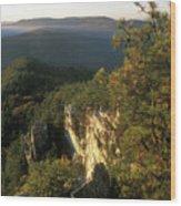 Monument Mountain Devils Pulpit Overlook Wood Print