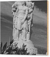 Monument Of Man Wood Print