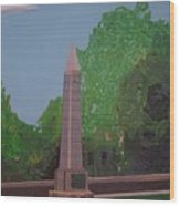Monument Of The Revolutionary War Of 1776 Wood Print by William Demboski