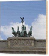 Monument On Brandenburger Tor  Wood Print