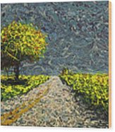 Monument Road Wood Print