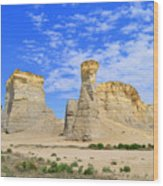 Monument Rocks In Kansas 2 Wood Print