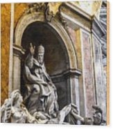 Monument To Pope Gregory Xiii In St Peter's Basilica Wood Print