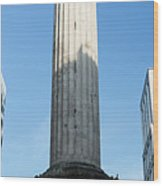 Monument To The Great Fire Of London Wood Print