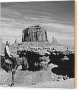 Monument Valley: Butte Wood Print