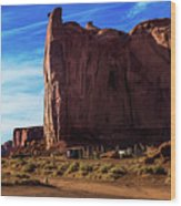 Monument Valley Corral Wood Print