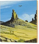 Monument Valley Eagle Rock Wood Print