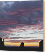Monument Valley Morning #1 Wood Print