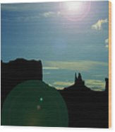 Monument Valley silhouette Wood Print