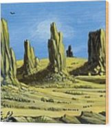 Monument Valley Spider Mesa Wood Print