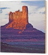 Monument Valley Sunset One Wood Print