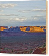Monument Valley Sunset Two Wood Print