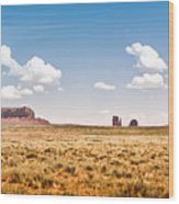 Monument Valley Wide Angle Wood Print by Ryan Kelly