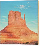 Monument Valley Wide View Wood Print