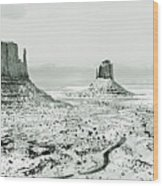 Monument Valley, Winter Wood Print