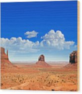 Monument Vally Buttes Wood Print by Jane Rix