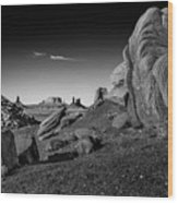 Monument Valley Rock Formations Wood Print