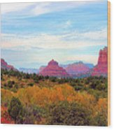 Monumental Bell Rock Vista Wood Print