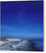 Mood Of A Beach Evening - Jersey Shore Wood Print