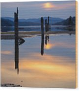 Mood On The Bay Wood Print by Idaho Scenic Images Linda Lantzy