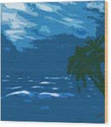 Moods Of The Sea Surreal Wood Print