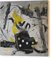 Moods Yellow Let It All Hang Out Wood Print