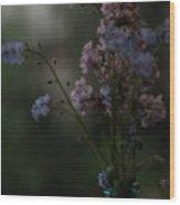 Moody Bouquet Wood Print