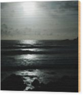 Moody Coast Wood Print