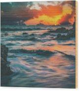 Moody Ocean Wood Print