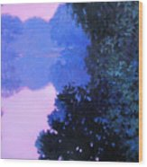 Moody River Wood Print