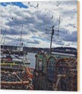 Moody Sea 🌊 #scarborough Wood Print