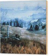 Moody Valley Wood Print