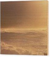 Moomomi Beach Sunset Wood Print