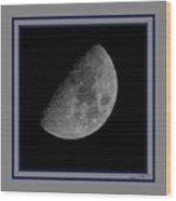 Moon 61 Percent Wood Print