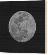 Moon 98 Percent Wood Print