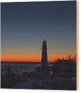 Moon And Venus - Headlight Sunrise Wood Print