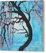 Moon Blossoms Wood Print