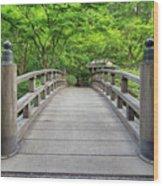 Moon Bridge In Spring Wood Print