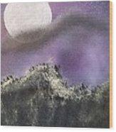 Moon Captured Wood Print