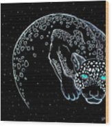 Moon-cat  Wood Print