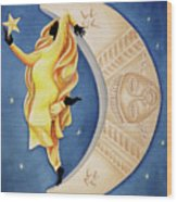 Moon Dancer Wood Print