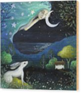 Moon Dream Wood Print