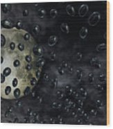 Moon Drops Wood Print