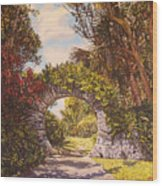 Moon Gate  Wood Print
