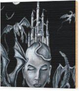 Moon Goddess Wood Print