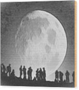 Moon - Id 16236-105000-9534 Wood Print