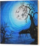 Moon Lit Wood Print
